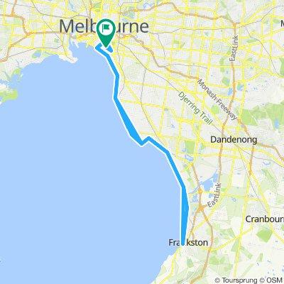 Round the Bay Melbourne to Frankston return