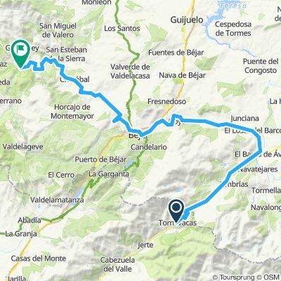 2020-1 opción -1 etapa C -Tornavacas a El Barco de Avila por la Nº 110-Bejar-Cristobal-Puentes del Alagòn-Miranda del Castañar