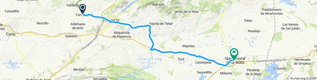 2020-1 opción-5 etapa B-Carcaboso-Plasencia-Carretera de la vera-La bazagona-Via de servicio-Casatejada-Navalmoral