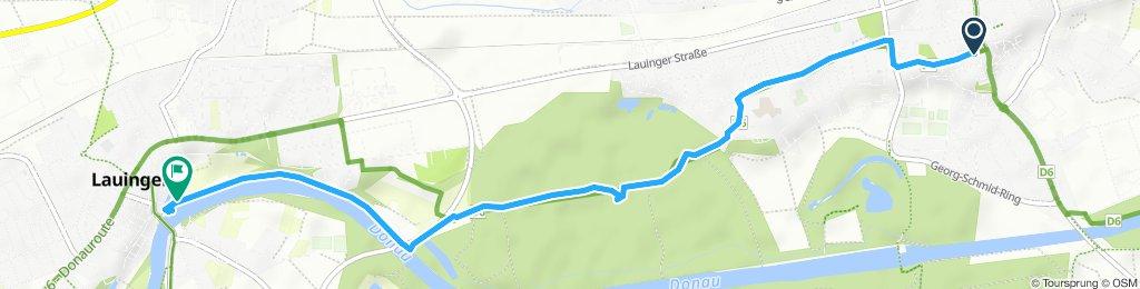 Gemütliche Route in Lauingen (Donau)