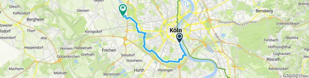 Gerade Fahrt in Köln.