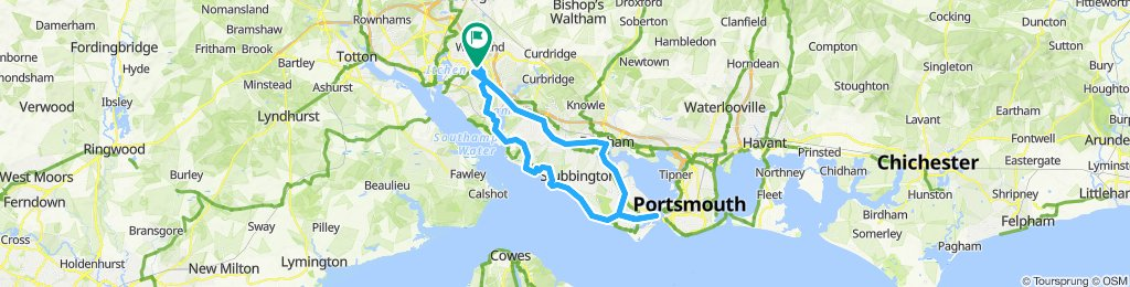 Southampton to Portsmouth....and back.