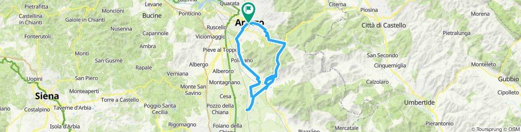Arezzo - Palazzo del Pero - Castiglion Fiorentino - Manciano - Riguttino - Arezzo