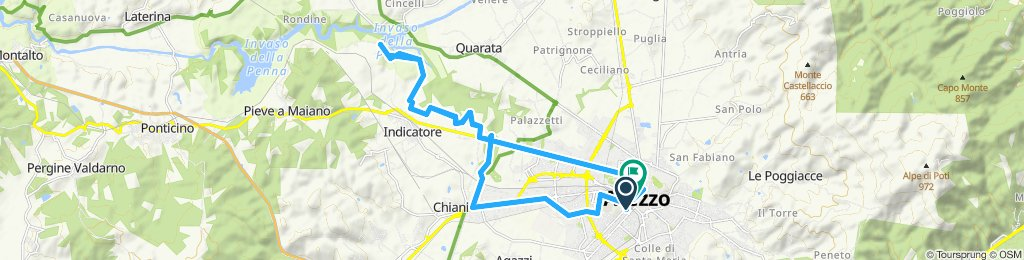 Arezzo - Pratantico - Monte Sopra Rondine - Arezzo