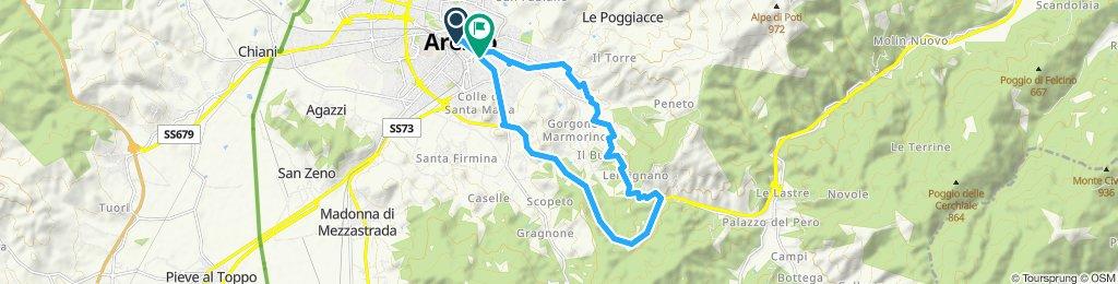 Arezzo - Scopetone - Torrino - Arezzo