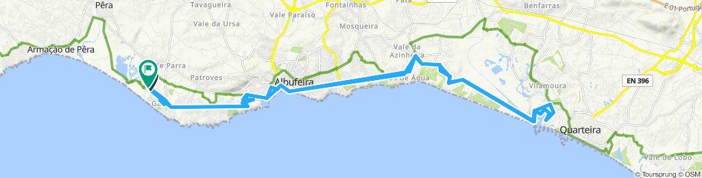 Salgados, Albufeira, Olhos d'Agua, Vilamoura and back