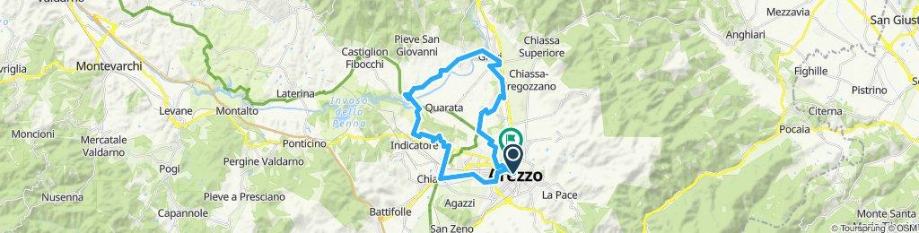 Arezzo - Giovi - ponte di Buriano - Pratantico - Chiani - Arezzo