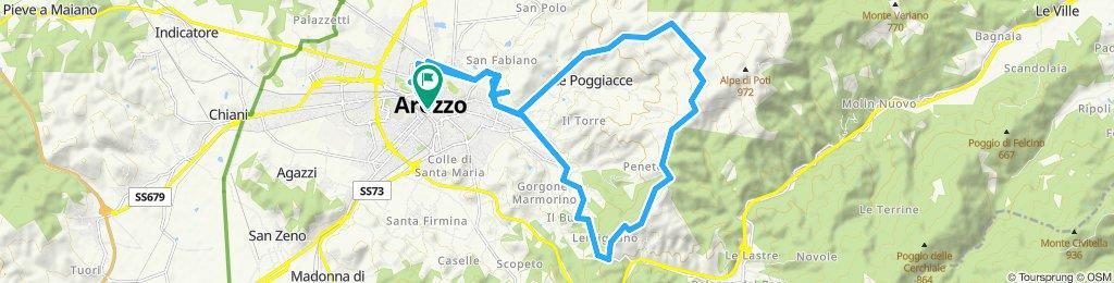 Arezzo - Staggiano - Scopetone - Alpe di Poti - Badia Pomaio - Arezzo
