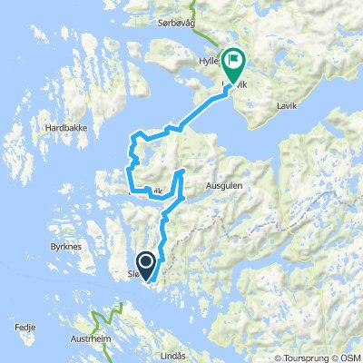Easy ride in Leirvik i Sogn