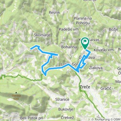 Gorenje pri Zrečah - Loška gora - Črešnova - Smogavc