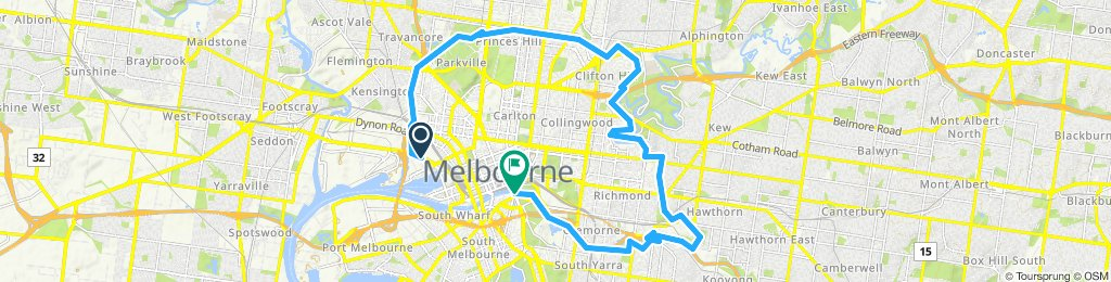 Restful route in Melbourne
