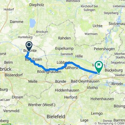 Bremen - Wiehengebirge Porta Westfalica bis Bohmte
