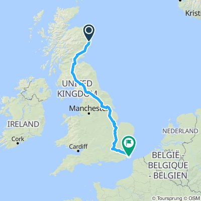 20190924 Route ABDN-Dover via Cambridge, London, London Elef-Castle cycle_travel
