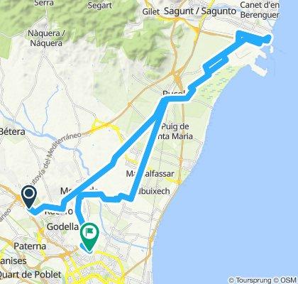 Valencia - Kinepolis - Puerto Sagunto - Moncada - valencia