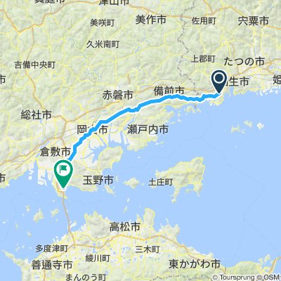 Day- 23 (alternative route) maruyama to kojima and train to utazu (29/10/2019)