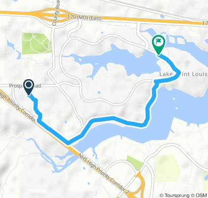 Restful route in Lake Saint Louis