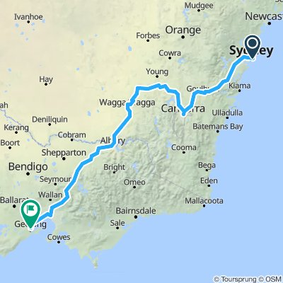 Sydney to Geelong