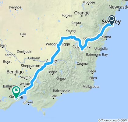 Sydney to Geelong