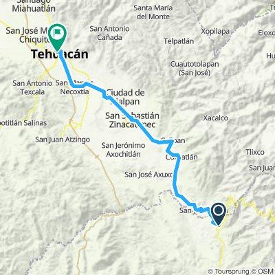 E61A–Teotitlan de Flores Magon-Tehuacan