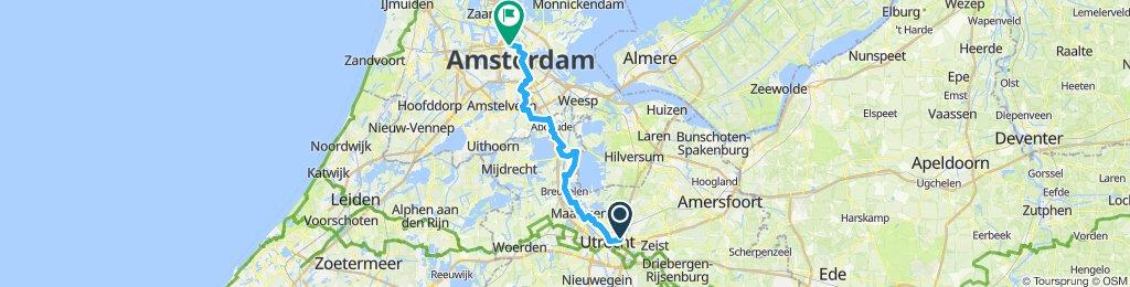 Von Utrecht nach Amsterdam gefahren 17.09.2019