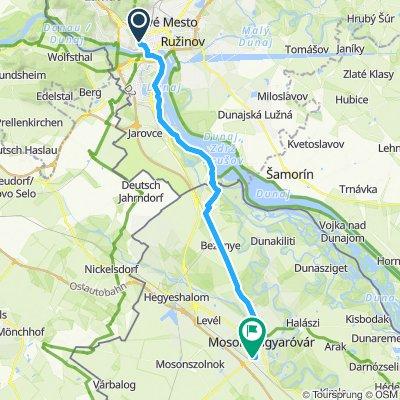 Bratislava to Moson.. Day 1