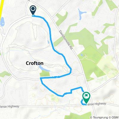 Slow ride in Crofton
