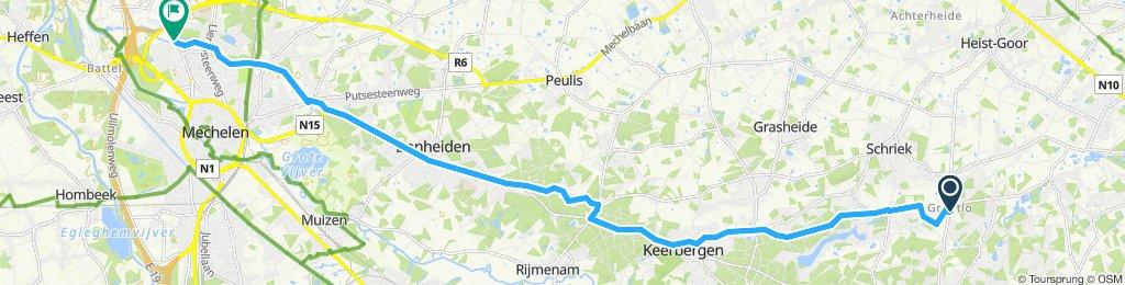 Blaren rijden in Mechelen