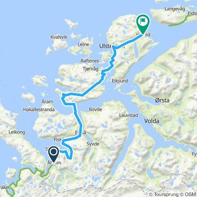 Etappe 7  Åheim - Hareid (ferry naar Ålesund)