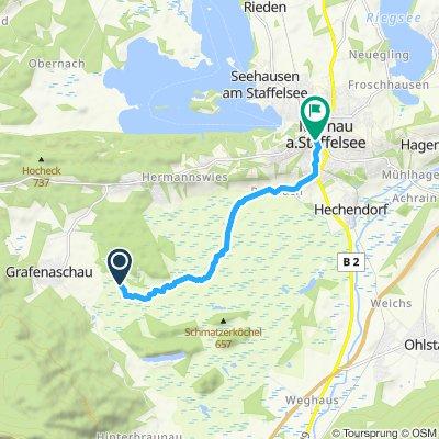 Einfache Fahrt in Murnau am Staffelsee