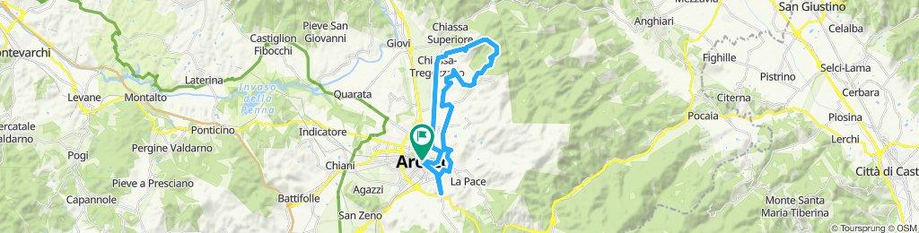 Arezzo - Antria - Tregozzano - Arezzo