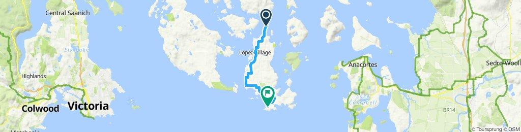 DAY 1 (Ferry—Holly B's—Reef Shark Sanc—Agate Beach—House)