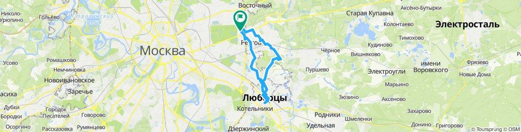 Велокурьерские ездки Реутов - Салтыковка - Люберцы 27 09 2019