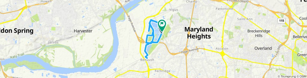 Supersonic route in Maryland Heights