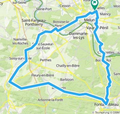 Boucle GRAVEL Courances - Fontainebleau - Bois le Roi