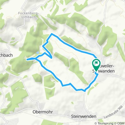 Langsame Fahrt in Kottweiler-Schwanden