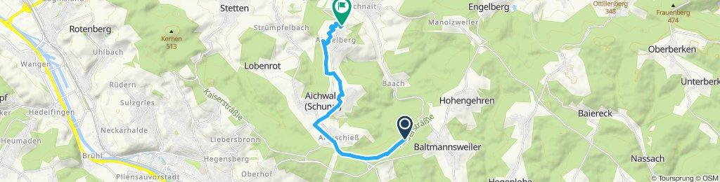 Einfache Fahrt nach Aichwald