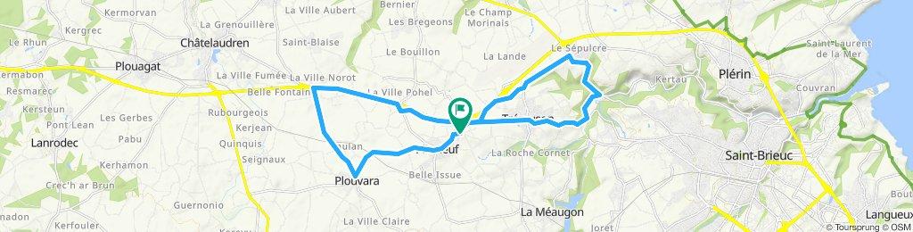 Circuit 22km autour Chêne Guenette