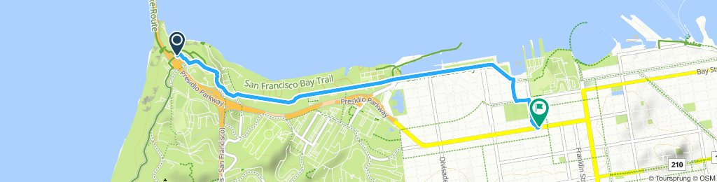 Moderate route in San Francisco