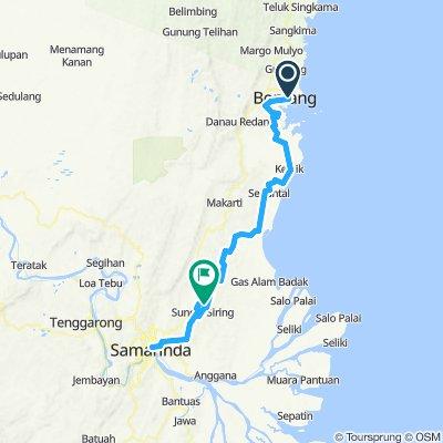 Route-1:Gowes Bontang-Samarinda,Oktober 2019