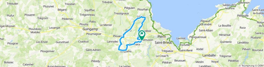 Circuit 44 km autour Chêne Guenette