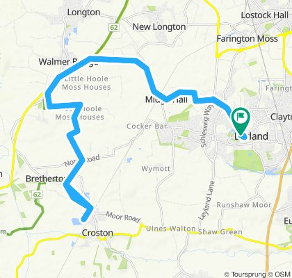 South Ribble to Croston Velo Cafe and Return