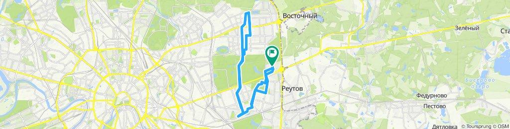 Осенние облачно-влажные велоездки Перово - Гольяново - Щелковская - Гольяново -  Перово 30 09 2019