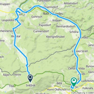 Na kole ze Sněžníku přes Königstein do Děčína