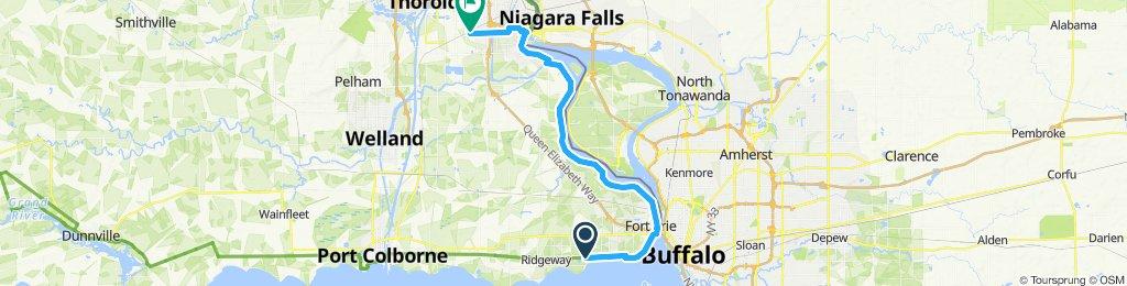 Ridgeway to Niagara koa (via friendship trail and Niagara trail) day 2