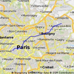 paris 15 - Sevran (par le canal)