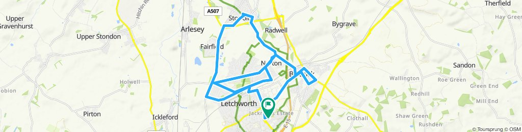 Relaxed route in Letchworth Garden City
