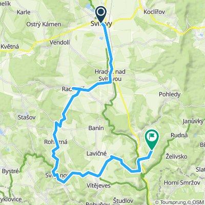 Okruh ze Svitav přes Svojanov a Březovu nasytí náročnější cyklisty