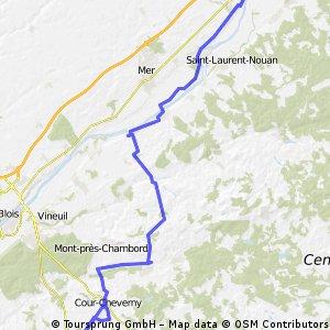 Loire Radweg: Tag 2 Beaugency - Cheverny