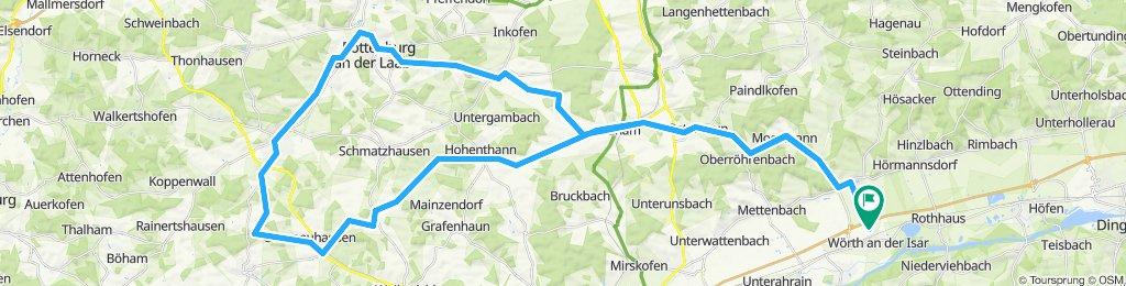 Wörth-Oberergoldsbach-Kirchberg-Rottenburg-Niederhatzkofen-Pfeffenhausen-Unterneuhausen-Hummelsberg-Hohenthann-Wörth