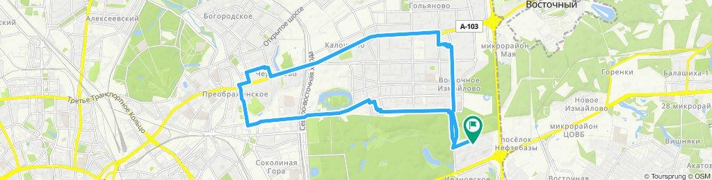 Велоездки Восточные - Измайлово (дозиметрия с выездом к клиенту) - Преображенская Площадь 02 10 2019